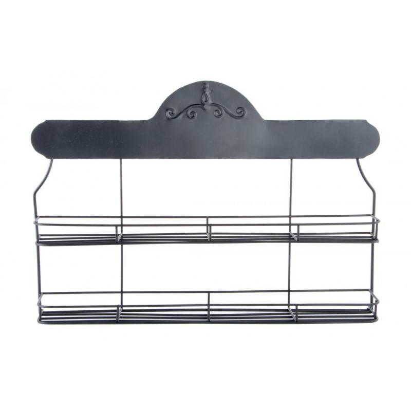 Mensola cucina a muro porta barattoli in ferro battuto - Ferro battuto porta ...