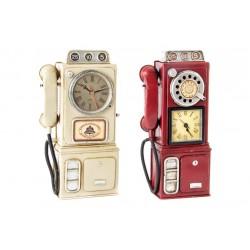 OROLOGIO TELEFONO A MURO ORO A PARETE IN METALLO LATTA 2 COLORI