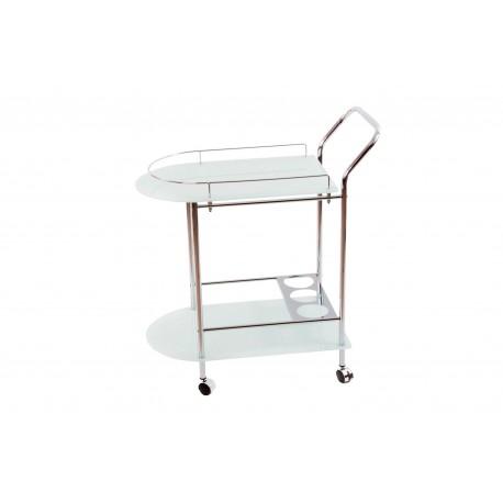 Portavivande carrello acciaio con portabottiglie design moderno cucina salotto - Carrello cucina design ...