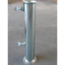 supporto base ombrellone tubolare in ferro zincato tubo ricambio palo 55 65 mm