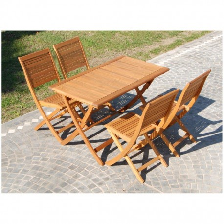 Tavolo giardino in legno tavolino pieghevole eucalipto richiudibile - Tavolo giardino pieghevole ...