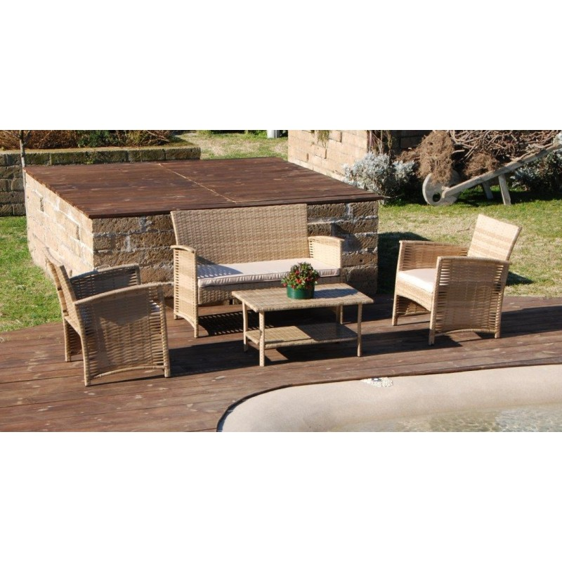 Panchina giardino panchina in wicker divano rattan veranda for Arredo giardino rattan offerte