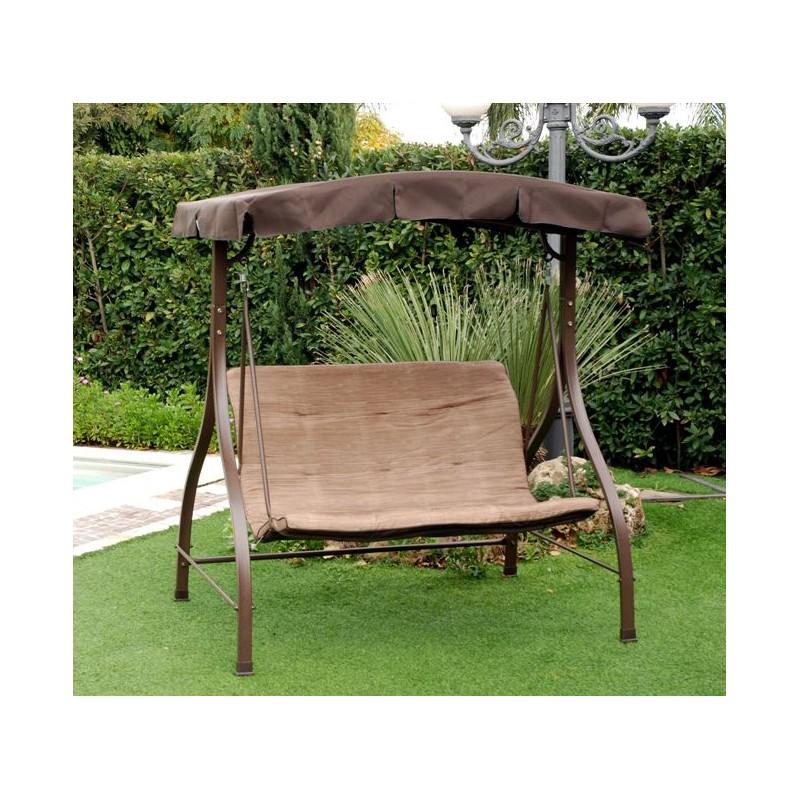Dondolo giardino altalena 2 posti con tetto parasole da for Arredo da giardino in ferro