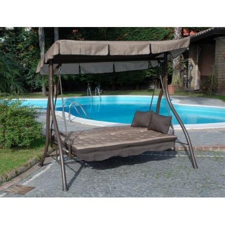 Dondolo giardino 2 posti altalena con tetto parasole letto - Dondolo da giardino 2 posti ...