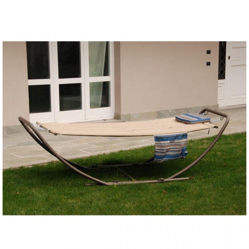 Amaca da giardino poltrona relax sedia dondolo imbottito - Sedia dondolo design ...