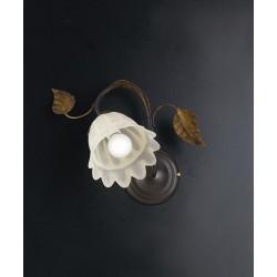 APPLIQUE IN FERRO BATTUTO LAMPADARIO DESIGN APPLIQUES LAMPADA MURO PARETE