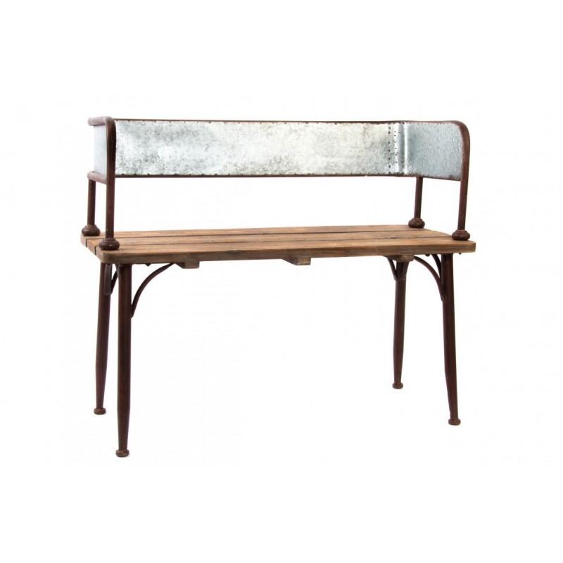 Panca divano ferro legno interno esterno panchetta for Divano esterno legno