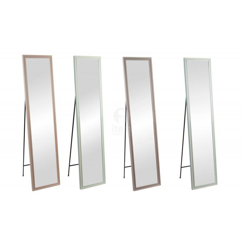 Specchio da camera con piede a piantana cornice in legno colori pastello - Colori a specchio ...