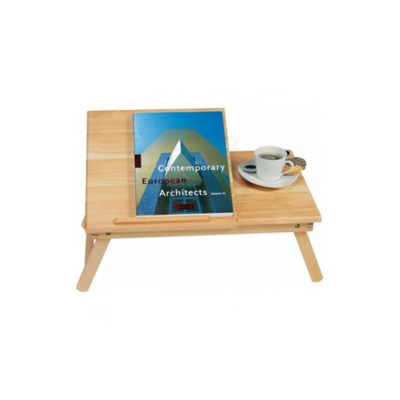 Vassoio leggio letto in legno regolabile per libri e pc x - Leggio da letto per libri ...