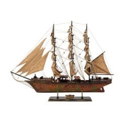 MODELLINO navale VASCELLO IN LEGNO MODELLISMO COLLEZIONE BARCA VELA VELIERO