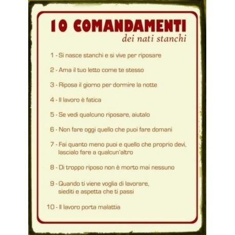 Targa latta comandamenti nati stanchi targhe latta tabella - Tavole dei dieci comandamenti ...