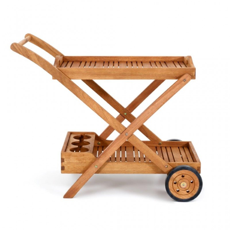 Carrello portavivande in legno carrello portabottiglie - Carrello cucina moderno ...