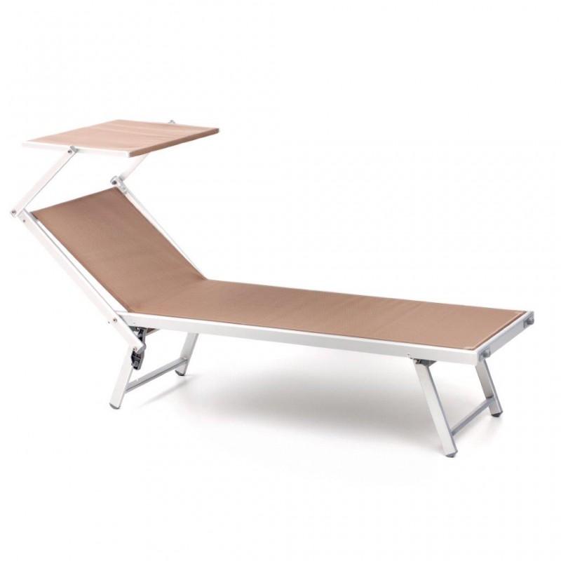Lettino giardino sdraio relax sedia alluminio letto piscina lettino prendisole - Lettino piscina alluminio ...
