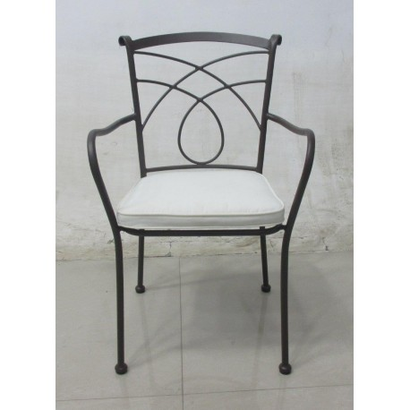 Sedia in ferro battuto poltrona sedie arredo giardino for Arredo giardino in ferro