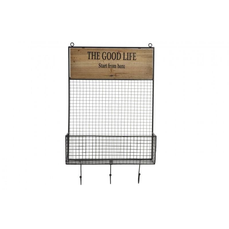 Scaffale porta barattoli a muro per cucina con ganci porta strofinacci grembiuli - Scaffale per cucina ...