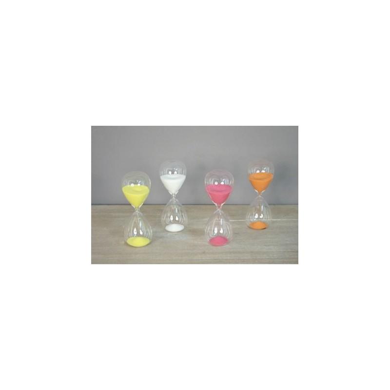 Clessidra 15 minuti vetro ampolla misura tempo da tavolo colorata - Clessidra da tavolo ...