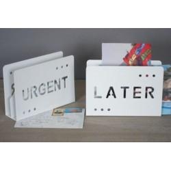 portalettere da scrivania portaposta da appoggio per ufficio urgent - later