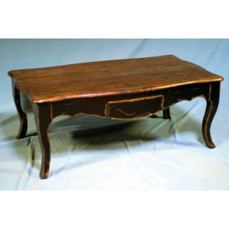 Tavolino salotto in legno massello classico rustico