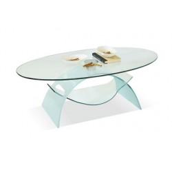 Tavoli Da Salotto In Cristallo.Tavolino Da Salotto In Vetro Trasparente Ovale Cristallo Temperato