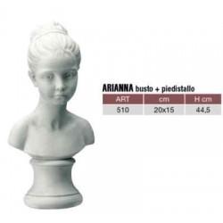 Statua arredamento mezzo busto donna