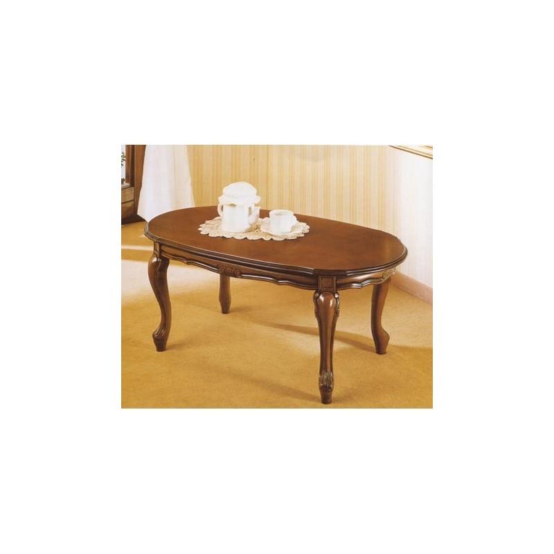 Tavolo da salotto classico in legno ovale for Tavolo salotto