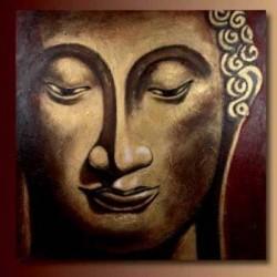 Quadro olio su tela Budda