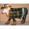 Mucca cow girl in vetroresina