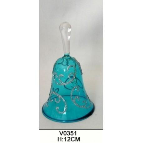 Campanella in vetro soprammobile bomboniera