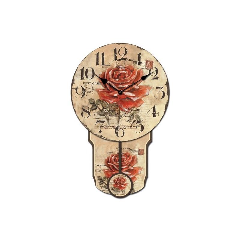 Orologio pendolo a muro per soggiorno salotto sveglia a for Orologio da muro farfalle