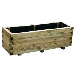 Fioriera in legno massiccio per terrazzi e giardini