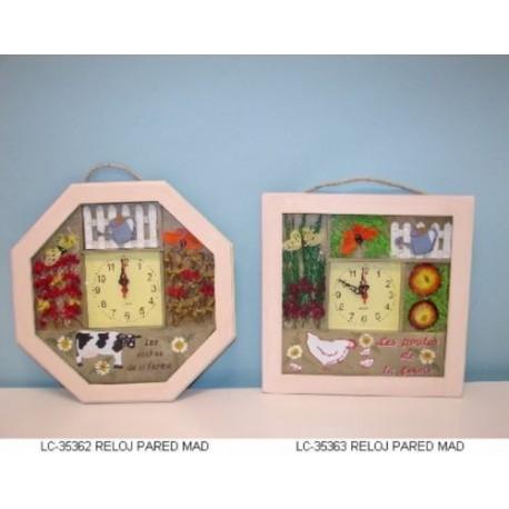 orologio a parete in legno da cucina