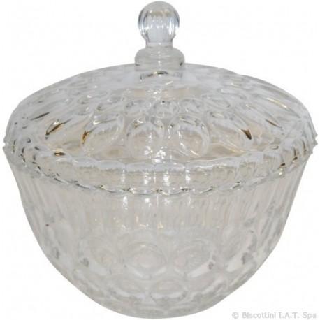 ciotola portacaramelle centrotavola in cristallo con coperchio