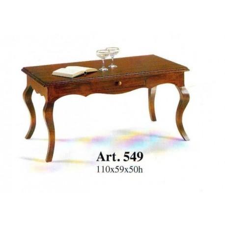 Tavolino Per Salotto Classico.Tavolino Classico Da Salotto In Legno Massello Con Cassetto Gambe Sagomate