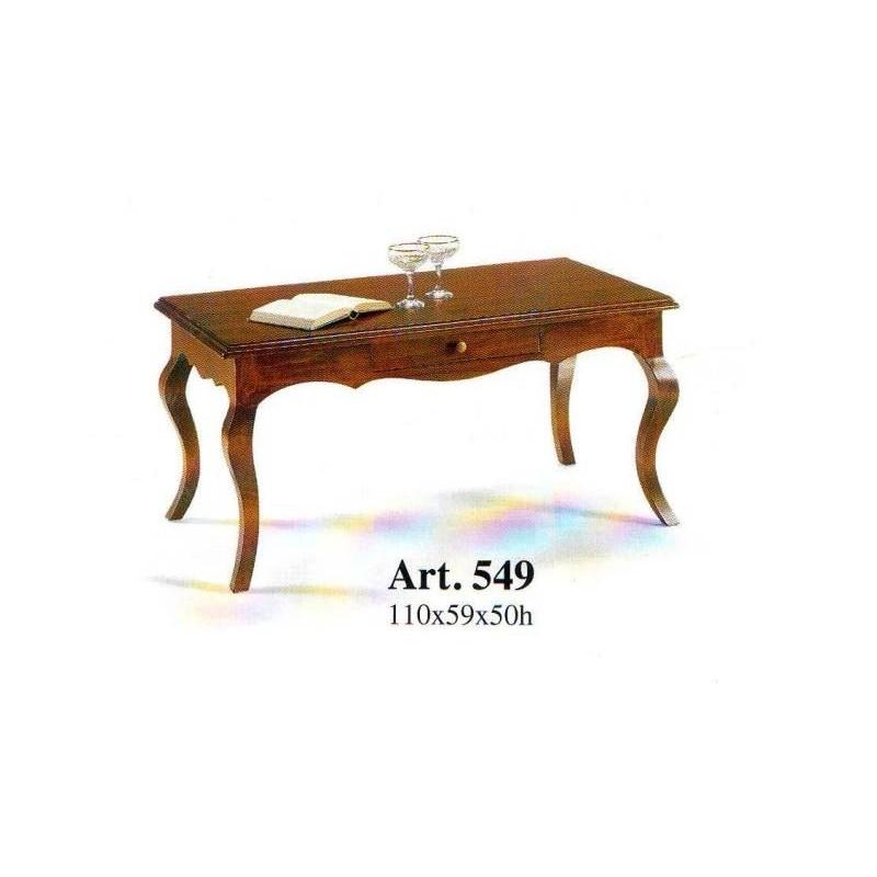 Tavolini Da Salotto Classici In Legno.Tavolino Classico Da Salotto In Legno Massello Con Cassetto Gambe Sagomate