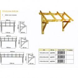 Copertura Porte Portoni Esterni Tettoia Pensilina in legno massello naturale