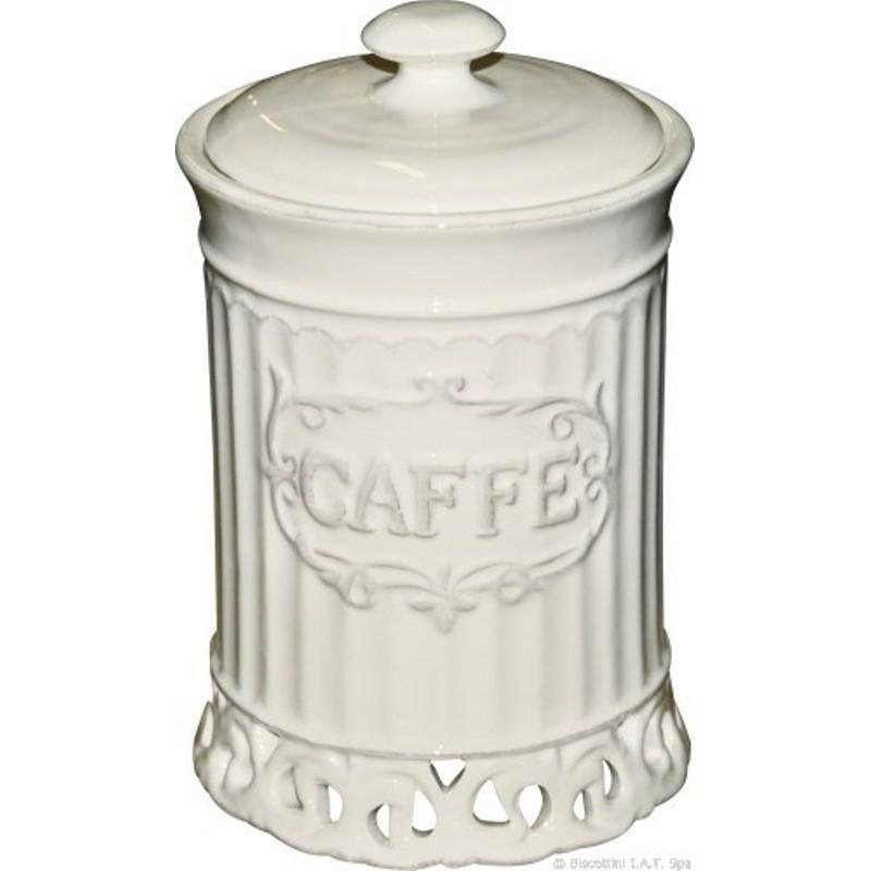 BARATTOLO CONTENITORE CAFFE\' IN CERAMICA DA CUCINA ARREDO DESIGN