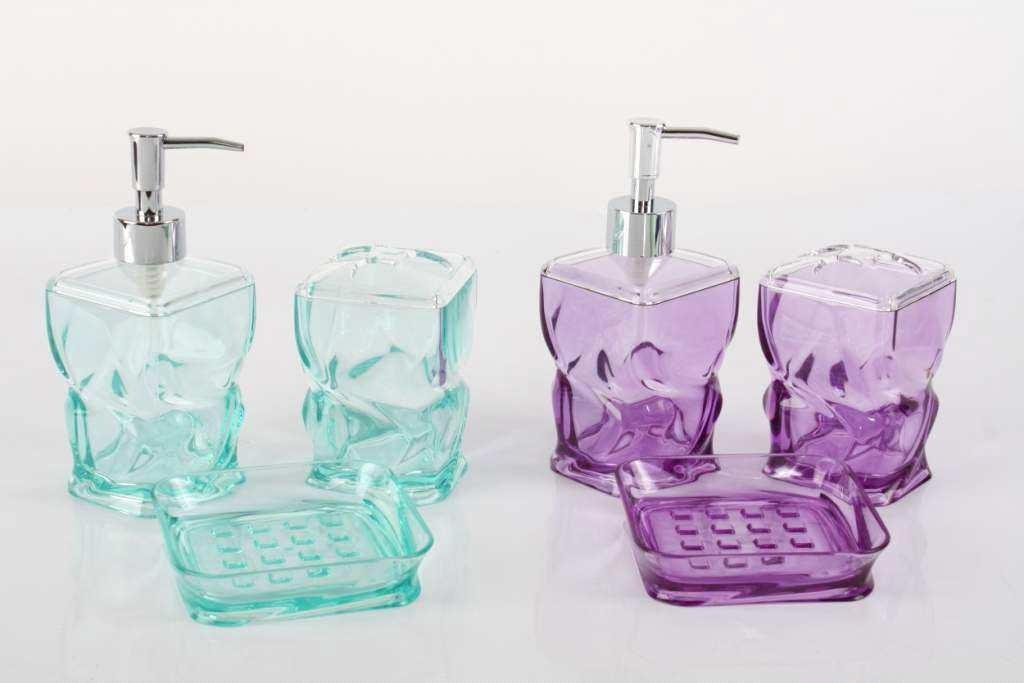 Set Da Bagno Moderno : Bagno accessori per lavabo set pezzi moderno design trasparente