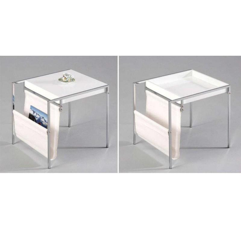 Portariviste Da Salotto.Tavolino Da Salotto Tavolino Attesa Con Portariviste Salvaspazio Bianco