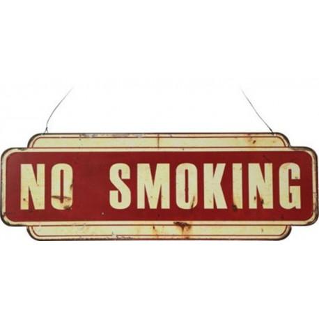 NO SMOKING TABELLA VIETATO FUMARE INSEGNA BAR PUB TARGHE LATTA