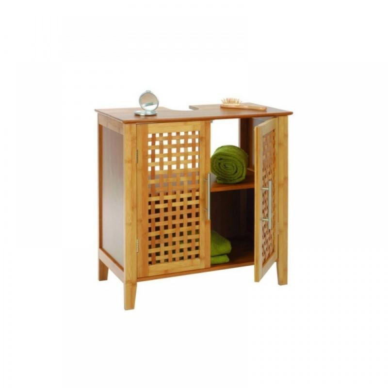 Mobile bagno sottolavabo mobiletto in legno sotto colonna for Mobile bagno legno