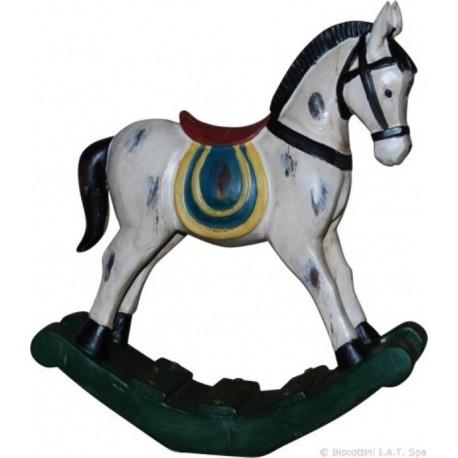 Cavallo Dondolo Bambini.Cavallo Dondolo Soprammobile Per Cameretta Regalo Bambini Modellino In Resina