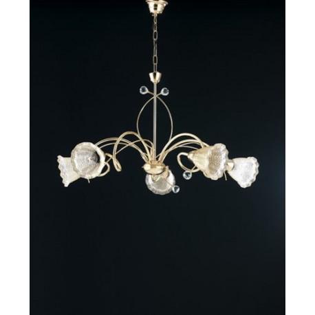 LAMPADARIO a soffitto soggiorno salotto DESIGN 5 luci ...