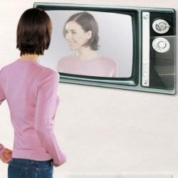 Specchio TV a Parete specchio cameretta a forma di televisore ANNI 60 DESIGN