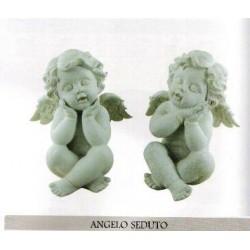 ANGELO SEDUTO SCULTURA SOPRAMMOBILE DA REGALO STATUINA ARREDO FESTE
