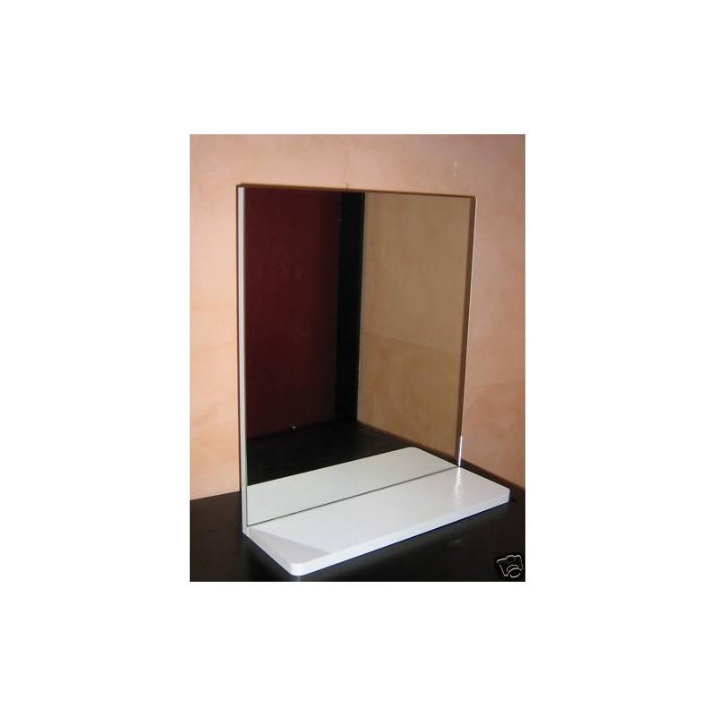 Specchio da bagno mini con mensola - IlBottegone.biz