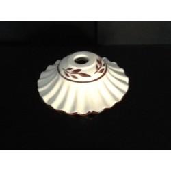 tazzina in ceramica lucido per lampadario decorata ricambio sostituzione SET 3 PEZZI