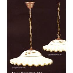 LAMPADARIO IN CERAMICA LAMPADARIO DESIGN LAMPADA a soffitto 1 luce