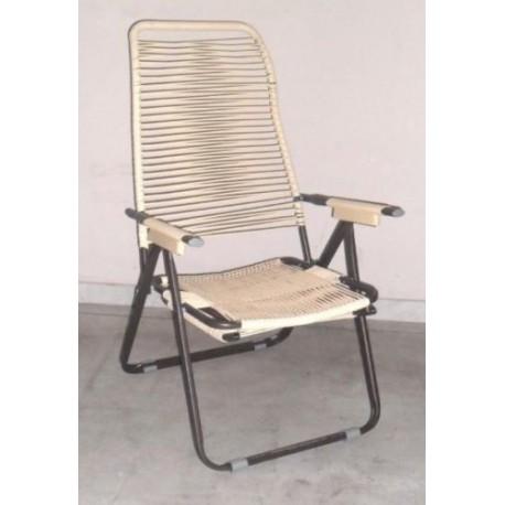 Poltrona A Sdraio Design.Sedia Sdraio Relax Poltrona Design Lettino Prendisole Ferro