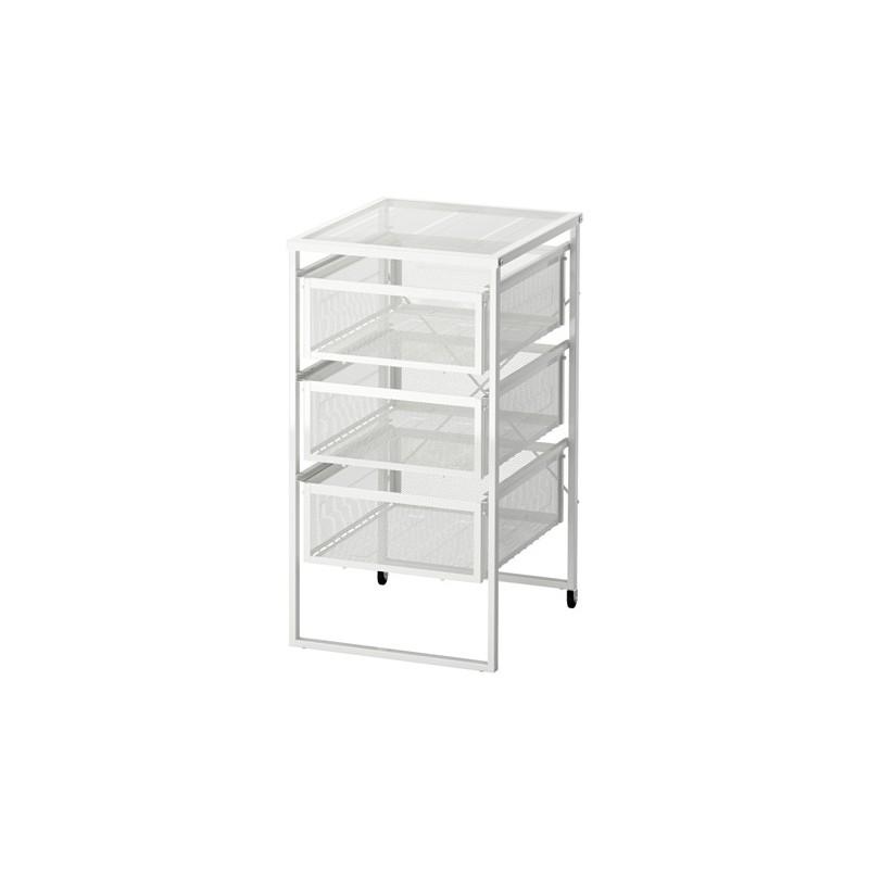 Cassettiera Da Ufficio Ikea.Cassettiera Ufficio Carrello Con Ruote Mobile Bagno Bianco Multiuso
