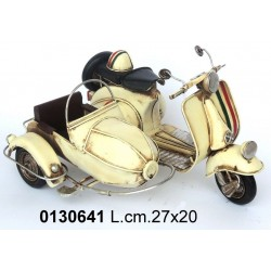 MODELLINO LATTA SiDECAR MODELLISMO  MODELLINO DA COLLEZIONE MOTOCICLETTA MOTO